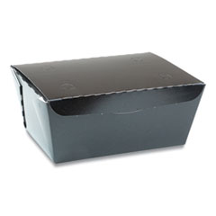 Pactiv EarthChoice OneBox Paper Box, 66 oz, 6.5 x 4.5 x 3.25, Black, 160/Carton