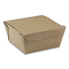 Pactiv EarthChoice OneBox Paper Box, 37 oz, 4.5 x 4.5 x 2.5, Kraft, 312/Carton