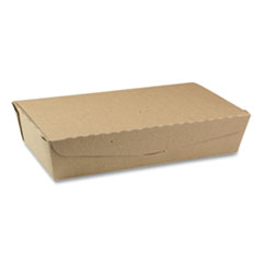 Pactiv EarthChoice OneBox Paper Box, 55 oz, 9 x 4.85 x 2, Kraft, 100/Carton