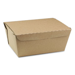 Pactiv EarthChoice OneBox Paper Box, 66 oz, 6.5 x 4.5 x 3.25, Kraft, 160/Carton