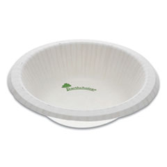 Pactiv EarthChoice Pressware Compostable Dinnerware, Bowl, 12 oz, White, 750/Carton