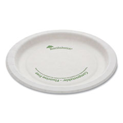 "Pactiv EarthChoice Pressware Compostable Dinnerware, Plate, 6"" Diameter, White, 750/Carton"