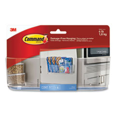 """Command™ Large Caddy, 4 lb Capacity, 8.5""""w, Clear"""