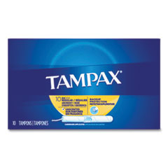 Tampax® Cardboard Applicator Tampons, Regular, 10/Box