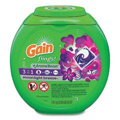 Gain® Flings Detergent Pods, Moonlight Breeze, 72/Pack