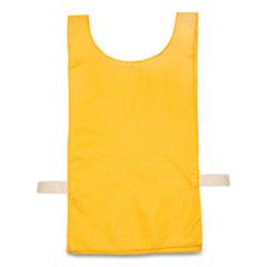 Champion Sports Heavyweight Pinnies, Nylon, One Size, Gold, 12/Box