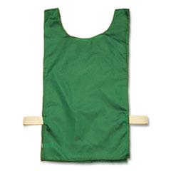 Champion Sports Heavyweight Pinnies, Nylon, One Size, Green, 12/Box