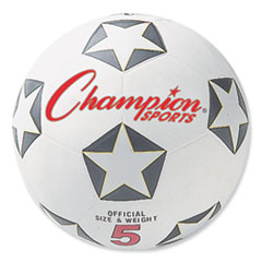 Rubber Sports Ball, For Soccer, No. 5 Size, White/Black