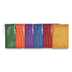 "Champion Sports Heavy-Duty Mesh Bag, 12"" x 18"", Gold, Green, Orange, Purple, Royal Blue, Scarlet Red, 6/Set"