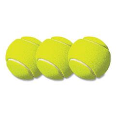 "Champion Sports Tennis Balls, 2 1/2"" Diameter, Rubber, Yellow, 3/Pack"