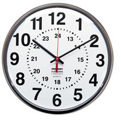 AbilityOne® SKILCRAFT® 12/24 Hour Slimline Quartz Wall Clock Thumbnail