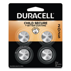 Duracell® Lithium Coin Battery, 2025, 4/Pack