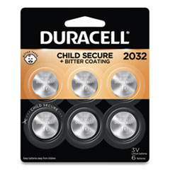 Duracell® Lithium Coin Battery, 2032, 6/Pack