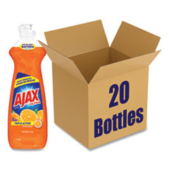 Ajax® Dish Detergent, Orange Scent, 14 oz Bottle, 20/Carton
