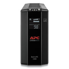 APC® Back-UPS PRO BX1000M Compact Tower Battery Backup System, 8 Outlets, 1000VA, 1103 J