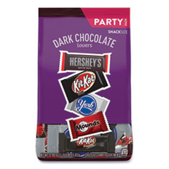 Hershey®'s Dark Chocolate Lovers Snack Size Party Pack, 32.89 oz Bag, Approximately 60 Pieces