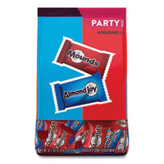 Hershey®'s Almond Joy and Mounds Chocolate Minature Size Party Pack, 32.1 oz Bag, Approximately 63 Pieces