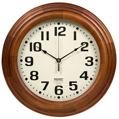 AbilityOne® SKILCRAFT® Mahogany Wall Clock Thumbnail
