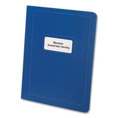 "Oxford™ Premium Window Report Cover, Three-Prong Fastener, 0.5"" Capacity, 8.5 x 11, Royal Blue/Royal Blue, 25/Box"