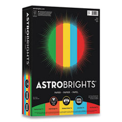 Astrobrights® Color Paper, 24 lb, 8.5 x 11, Assorted Eco Colors, 500 Sheets/Ream