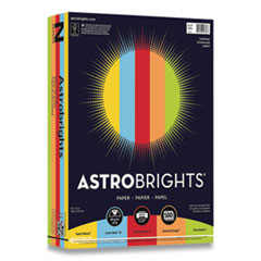 Astrobrights® Color Paper, 24 lb, 8.5 x 11, Assorted Everyday Colors, 500/Ream