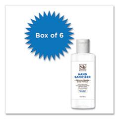Soapbox 70% Alcohol Scented Gel Hand Sanitizer, 4 oz Flip Top Bottle, Citrus, 6/Box