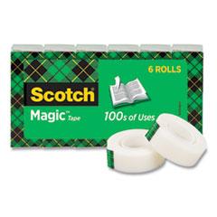 """Scotch® Magic Tape Refill, 1"""" Core, 0.75"""" x 36 yds, Clear, 6/Pack"""
