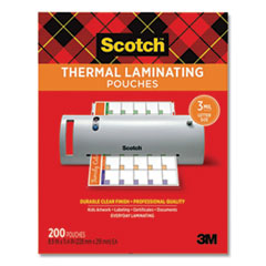 """Scotch™ Laminating Pouches, 3 mil, 9"""" x 11.5"""", Gloss Clear, 200/Pack"""