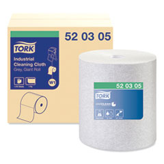 Tork® Industrial Cleaning Cloths, 1-Ply, 12.6 x 13.3, Gray, 1,050 Wipes/Roll