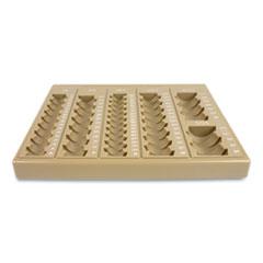 CONTROLTEK® Plastic Coin Tray, 6 Compartments, 7.75 x 10 x 1.5, Tan