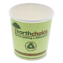"Pactiv EarthChoice Compostable Container, Large Soup, 16 oz, 3.63"" Diameter x 3.88""h, Green, 500/Carton"