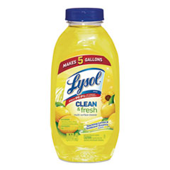 LYSOL® Brand Clean and Fresh Multi-Surface Cleaner, Sparkling Lemon and Sunflower Essence, 10.75 oz Bottle, 20/Carton