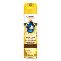 Pledge® Furniture Polish, Lemon, 14.2 oz Aerosol Spray, 6/Carton