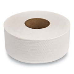 "Evolution Two-Ply Jumbo Roll Toilet Paper, White, 9"" dia. x 1,000 ft, 12 Rolls/Carton"