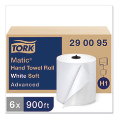 "Tork® Advanced Matic Hand Towel Roll, 7.7"" x 900 ft, White, 6 Rolls/Carton"