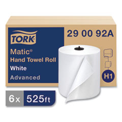 Tork® Advanced Matic Hand Towel Roll, 2-Ply, 7.7 x 9.8, White, 643/Roll, 6 Roll/Carton