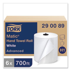 "Tork® Advanced Matic Hand Towel Roll, 7.7"" x 700 ft, White, 6 Rolls/Carton"