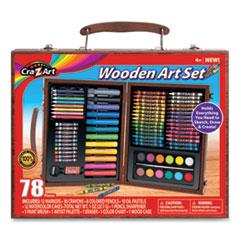 Cra-Z-Art® Wooden Art Set, 78 Pieces