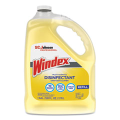 Windex® Multi-Surface Disinfectant Cleaner, Citrus, 1 gal Bottle, 4/Carton