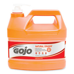 GOJO® NATURAL ORANGE Pumice Hand Cleaner, Citrus, 1 gal Pump Bottle, 2/Carton