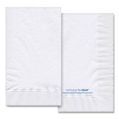 Hoffmaster® Bio-Shield Dinner Napkins, 2-Ply, 15 x 17, 4.25 x 7.5 Folded, White, 1,000/Carton
