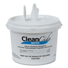 Wexford Labs CleanCide Disinfecting Wipes, Fresh Scent, 8 x 5.5, 400/Tub