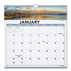 AT-A-GLANCE® Landscape Monthly Wall Calendar, 12 x 12, 2022