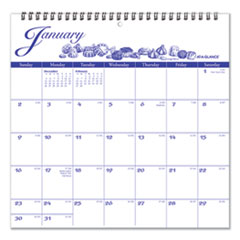 AT-A-GLANCE® 12-Month Illustrator's Edition Wall Calendar, 12 x 12, Illustrations, 2022