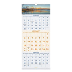 AT-A-GLANCE® Scenic Three-Month Wall Calendar, 12 x 27, 2022