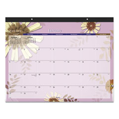 AT-A-GLANCE® Paper Flowers Desk Pad, 22 x 17, 2022