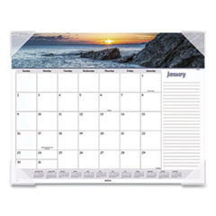 AT-A-GLANCE® Seascape Panoramic Desk Pad, 22 x 17, 2022