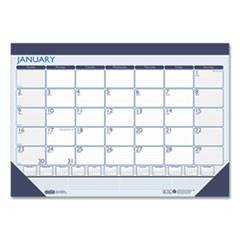 House of Doolittle™ 100% Recycled Contempo Desk Pad Calendar, 22 x 17, Blue, 2022