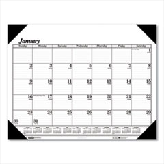 House of Doolittle™ 100% Recycled One-Color Dated Monthly Desk Pad Calendar
