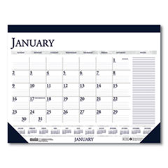 House of Doolittle™ Recycled Two-Color Monthly Desk Pad Calendar with Large Notes Section, 22 x 17, 2021